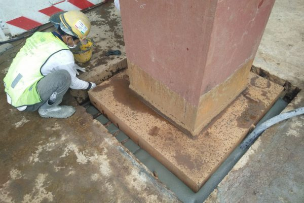 Baseplate-grouting